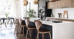 20+ Innovative Black White Wood Kitchens Design Ideas