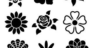 Flower Stencil Designs