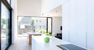 31 Schöne weiße Küche mit Minimalist