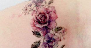 Einfache Tattoo Designs um Ihre Lieblingsblume auf Ihrer Haut zu tragen. Siehst … #flowertattoos