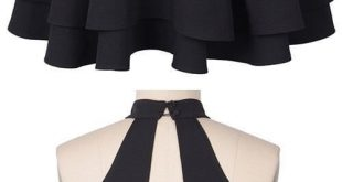 Halter Black Open Back Homecoming Dress Party Dresses(ED2046)