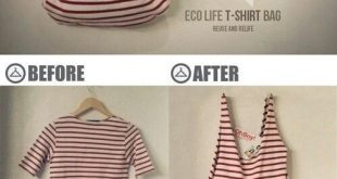 How To Make A No Sew T-Shirt Tote Bag In 10 Minutes This no sew t-shirt tote bag...