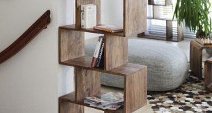 18 Design-Ideen für das Zickzack-Bücherregal