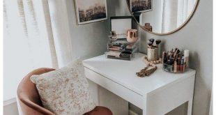 53 besten Make-up Eitelkeiten & Cases für stilvolle Schlafzimmer #roomideas #makeupvaniti...