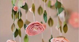 Flower mobile - Blush - Felt flower mobile chandelier