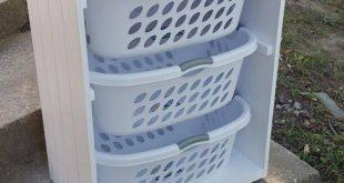 Laundry Basket Holder Laundry Room Decor Laundry Organizer Laundry Basket Organizer Laundry Furniture Clothes Basket Organizer Cabinet