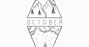 October Bullet Journal Monthly cover page