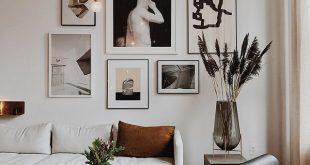 Wunderschöne Galeriewände über dem Sofa #wohnzimmer #galerie